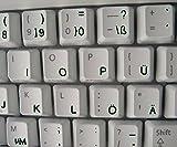Deutsch transparente Tastaturaufkleber mit Schwarzen Buchstaben - Geeignet für jede Tastatur