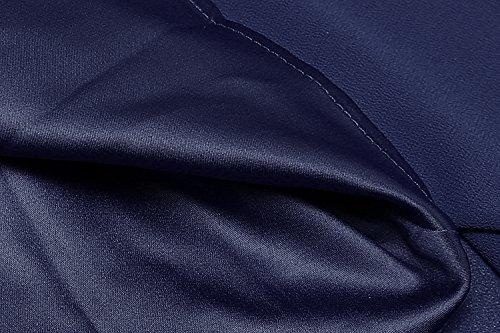 CRAVOG Femme Robe Longue de Soirée, Elégantes Sexy Robe de Cocktail de Cérémonie Taille Haute Bleu Marine