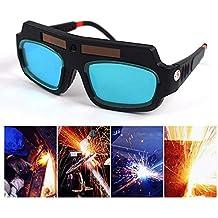 KOBWA Gafas de Soldar de Oscurecimiento Automático, Gafas de Protección para Soldar, Protección Para