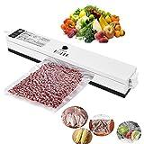 Sigillatore a vuoto, imballatrice a vuoto 220V, imballaggio automatico di conservazione con kit di avvio per risparmio alimentare con 15 pacchetti di sigillanti per regalo gratuito immagine