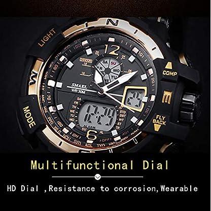 PAPAKOO-Sportuhr-LED-Military-Armbanduhr-LED-Doppelte-Anzeige-Outdoor-Abenteuer-Elektronik-Herren-50M-Wasserdicht-LED-Licht-Analog-Digital-Armbanduhr-fr-Mnner