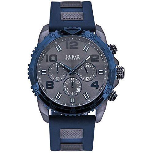 Guess W0599G2 - Reloj de pulsera para hombre, color blanco/plata