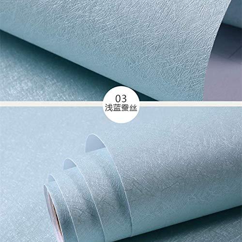 Tapete Selbstklebende Schlafzimmer Warme Seide-druck Pvc Hintergrund Wand Papier Dekoration Renoviert Universität Schlafsaal Selbstklebende Tapete Blaue Seide - Universität Seide