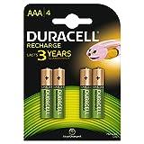 Duracell Akkus, AAA, wiederaufladbar, 750 mAh, 4Stück