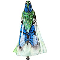 Zhuhaimei,Diseño de Mariposa de Gasa sección Cap(Color:Azul)