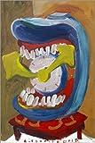 POSTERLOUNGE Poster 40 x 60 cm: Clock with teeth 2 de Diego Manuel Rodriguez - reproduction haut de gamme, nouveau poster