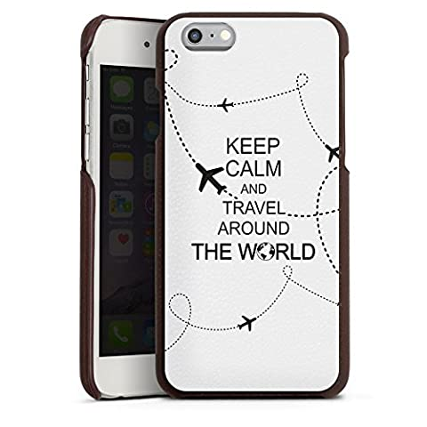 Apple iPhone 6s Lederhülle Leder Case Leder Handyhülle Reisen Travel