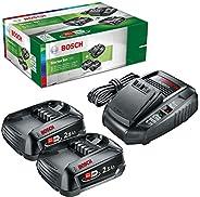 Startpaket från Bosch (2x 2,5 Ah batterier, 18V-system, laddare, i kartong)