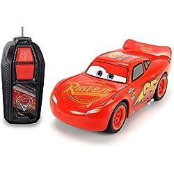 Dickie Toys- Lighting McQueen Dickie Toys-203081000-Radiocommandé-Véhicule-Cars 3-Lightning Single Drive, 203081000, Rouge, 12.8X 25.3X 12.5 cm