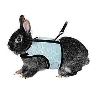 UEETEK Softgeschirr mit Blei für Kaninchen Hase Elastic - Größe L (Himmelblau)