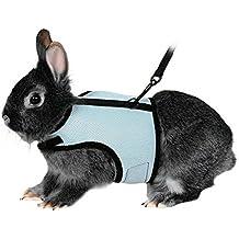 UEETEK Arnés suave con plomo para conejos Bunny - talla XL (azul cielo)