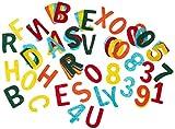 Rayher Filz Stanzteile, 4cm Großbuchstaben und Zahlenmix, ca. 230 Stück bunt gemischt, Alphabet Buchstaben Zahlen aus Bastelfilz im Vorteilspack, zum kreativen Basteln mit Kindern hergestellt von Rayher Hobby