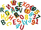 RAYHER HOBBY 5324549 Lettere e Numeri in Feltro, Fai da Te con Bambini, Decorazioni, 4cm, ca 230 pz