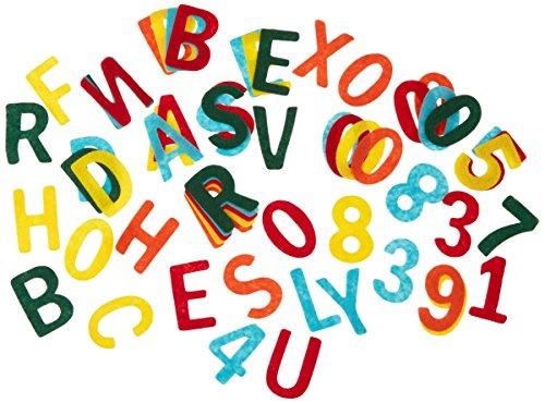 Filz Stanzteile, 4cm Großbuchstaben und Zahlenmix