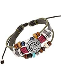 Pulsera de Tejido SMARTLADY Mujer Vendimia Bohemia Rebordeado Multicapa bracelet