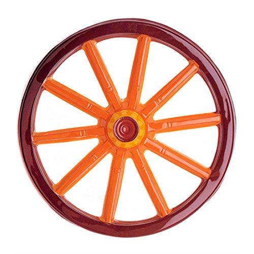 Western Party Dekorationen (Wagenrad 3D Deko Rad 50 cm Wagen Speichenrad Plastik Dekorad Western Wanddeko Wild West)