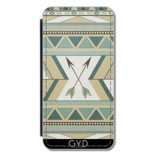 Leder Flip Case Tasche Hülle für Huawei P8 - aztekischer Muster Pfeile by LouJah