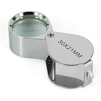 Digiflex, lente d'ingrandimento per gioiellieri, a 30x, con vetro da 21mm