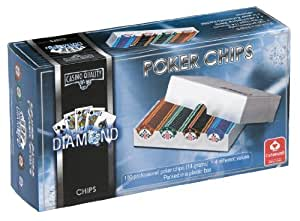 Cartamundi Diamond 100 Poker Chips in Plastic Box