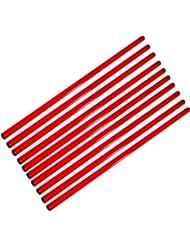 Set de 10x picas, 100 cm, rojo