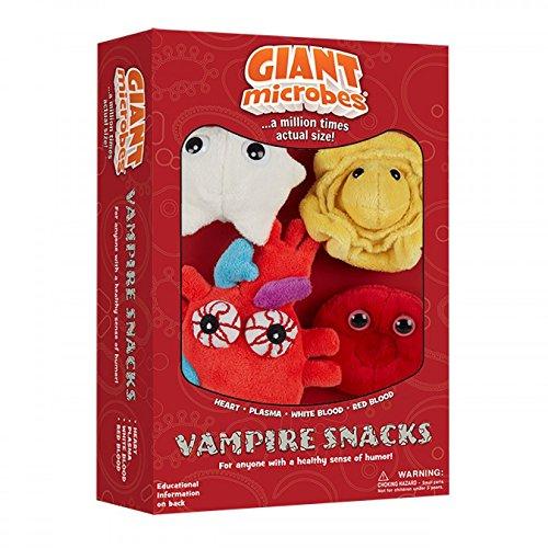 GiantMicrobes VAMPIRE SNACKS GIFT BOX (Heart, Plasma, White Blood, Red Blood)