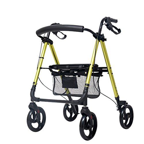 XUEPING Walker For The Elderly Trolleys Mit Rädern Mit Gehhilfe Rehabilitation Ältere Einkaufs Trolley 4 Farben 7,5 kg Fahrt 136 Kg ( Farbe : A Green )