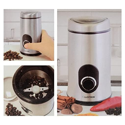 Lloytron E5602SS Stainless Steel Coffee/Spice Grinder