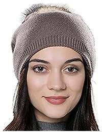 DUVERT Bonnet Femme Hiver Tuques d hiver Bonnet Chapeau Femme Unisexe Laine  tricoté e1ef713fe80