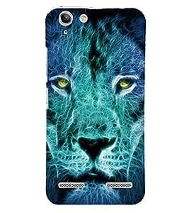 FUSON Angry Lion Showing Eyes 3D Hard Polycarbonate Designer Back Case Cover for Lenovo Vibe K5 Plus :: Lenovo Vibe K5 Plus A6020a46 :: Lenovo Vibe K5 Plus Lemon 3