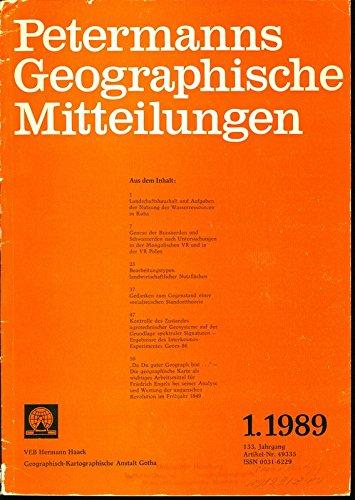 Genese der Braunerden und Schwarzerden nach Untersuchungen in der Mongolischen VR und in der VR Polen, in: PETERMANNS GEOGRAPHISCHE MITTEILUNGEN, 1. Quartal / 1989.