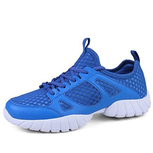 Uomo Scarpe da Ginnastica Corsa outdoor multisport Running Sneakers Blu