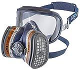 GVS FILTER TECHNOLOGY SPR401 Elipse INTEGRA A1P3 semimaschera con protezione occhi e filtri sostituibili pronta all'uso M/L blu