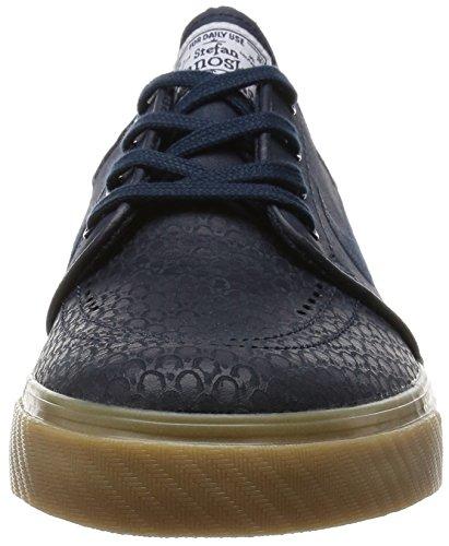 NIKE Air Zoom Stefan Janoski L Schuhe Herren Sneaker Sportschuhe Schwarz 616490 016 Drk Obsdn/Drk Obsdn/White/Gm L