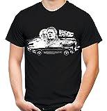 Zurück in die Zukunft Männer und Herren T-Shirt | Marty McFly Delorean ||| (XXL, Schwarz)