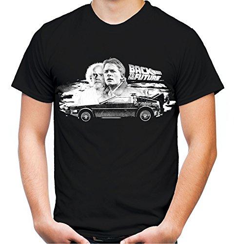 Zurück in die Zukunft Männer und Herren T-Shirt   Marty McFly Delorean     (4XL, Schwarz)
