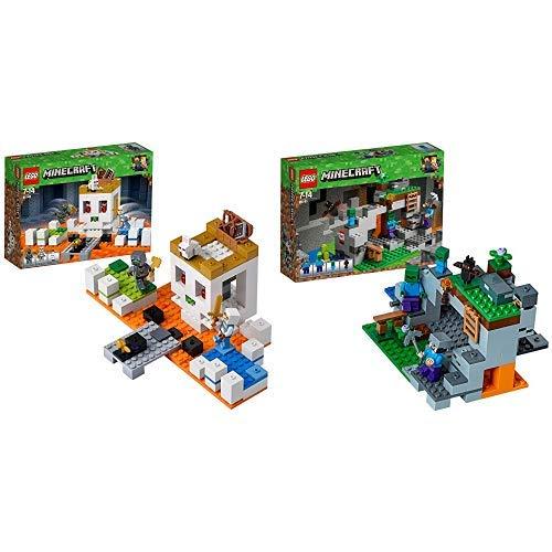 LEGOMinecraft Die Totenkopfarena (21145) Minecraft Minifiguren und Spielzeug für Kinder & LEGO Minecraft 21141 - Zombiehöhle Beliebtes, Kinderspielzeug
