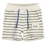 Produkt-Bild: name it 13151398 NMMFANDAD Sweat Short Shirts kurze Hose weich Long Creme Streifen Ringel mit Kordelzug Maritim