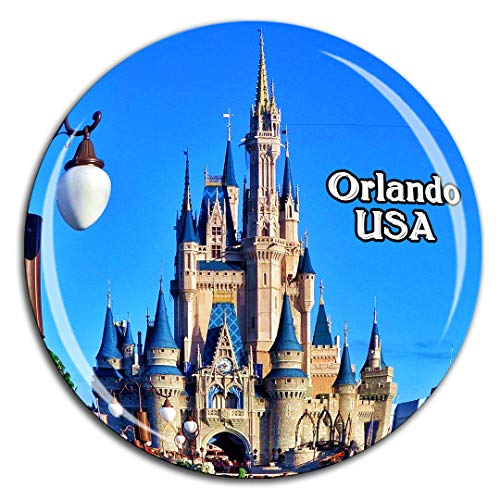 Weekino Magic Kingdom Park Orlando Amerika USA Kühlschrankmagnet 3D Kristallglas Tourist City Travel Souvenir Collection Geschenk Starke Kühlschrank Aufkleber
