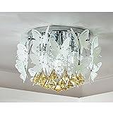 Ywyun Moderne kreative kristall deckenleuchte, einfache runde LED kinder schlafzimmer restaurant energiesparende deckenleuchte (Color : White light)