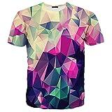 Syaimn Mens 3D Muster gedruckt Kurze Ärmel T-Shirts Casual Graphics T-Shirts M