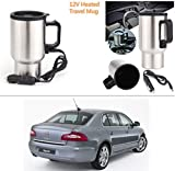 AutoStark 12V Stainless Steel Cup Kettle Travel Coffee Heated Mug Car Based Heating