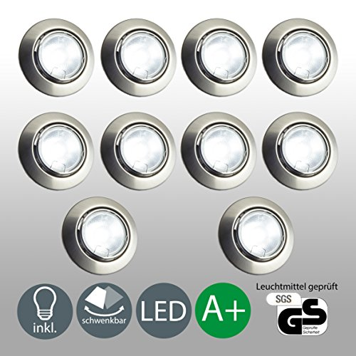 Spot LED encastrable Spot LED Lot de 10 avec 10 x 5 W GU10 Spot LED...
