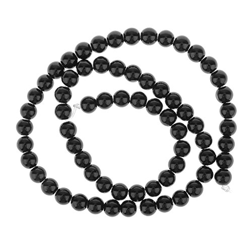Redondo Onyx Onix Piedra Preciosa Suelta Cuentas Abalorios Cadena 6mm/15In Color Negro