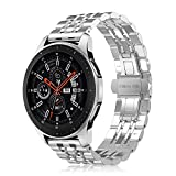 for Fintie Bracelet Compatible with Galaxy Watch 46 mm/Gear S3 Frontier/Gear S3 Classic/Huawei Watch 2 Classic Smart Watch - 22 mm Stainless Steel Metal Replacement Strap