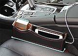 BMDHA Multifunktions-Auto Sitz Lücke Organisieren Box Münze Aufbewahrungsbox,Black