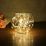 OurLeeme 5 m / 16,4 Fuß leichte Sequenz Kupferdraht der Glasflasche der Kunst von Feen der Hochzeit Valentinstag Weihnachten WarmWhite 50-LED