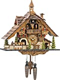 ISDD Cuckoo Clocks Orologio a cucù Black Forest House con treno in movimento, con musica en 48110 Qmt