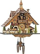 ISDD Cuckoo Clocks Orologio a cucù Black Forest House con Treno in Movimento, con Musica en 48110 Qmt