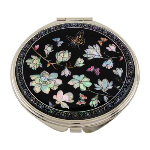 Miroir de Poche Nacre Maquillage Grossissant Cadeau Tradition Corée MAGNOLIA