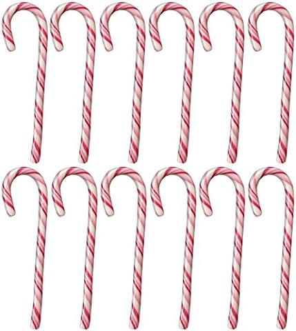 Candy Canes Zuckerstangen 144 Stück, rot-weiß